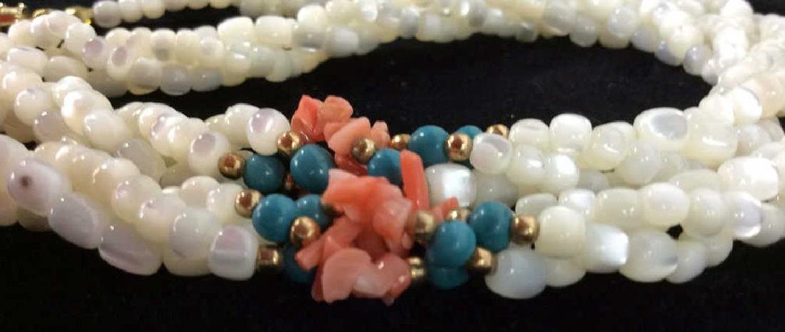 Shell W Coral Clusters Women's Necklace
