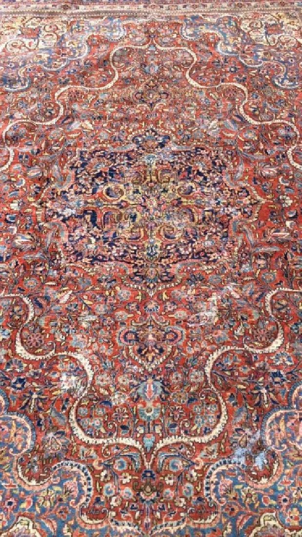 Vintage Handmade Wool Persian Rug