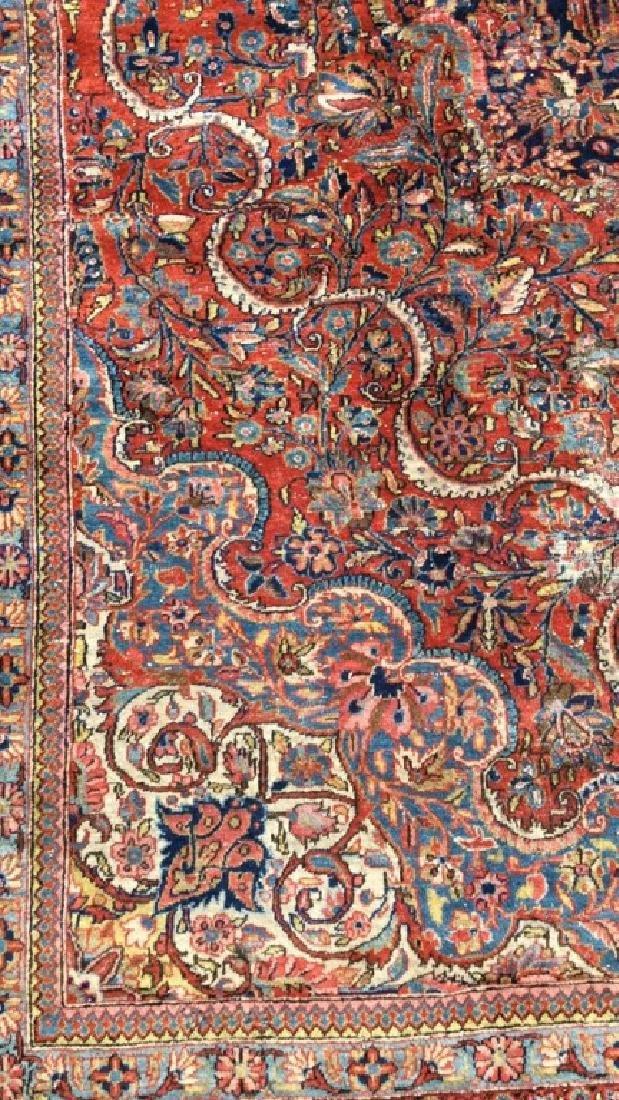 Vintage Handmade Wool Persian Rug - 9