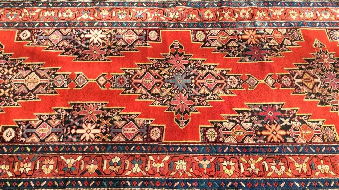 Antique Multi Toned Oriental Carpet Runner
