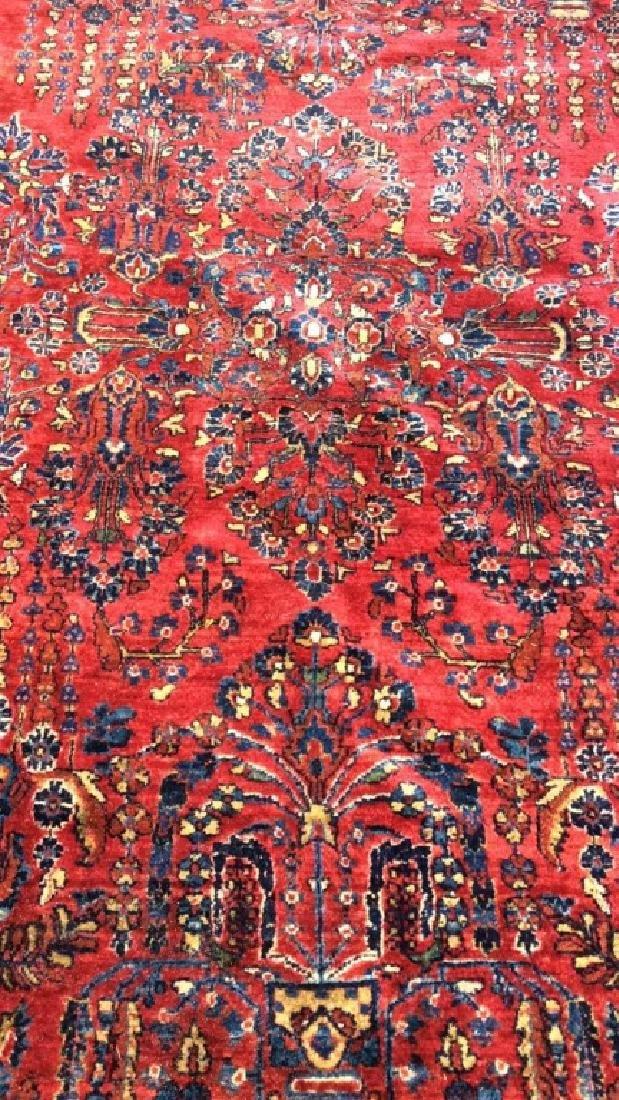 Vintage Handmade Floral Motif Detailed Rug - 2