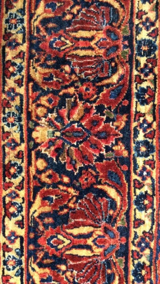 Vintage Handmade Floral Motif Detailed Rug - 3