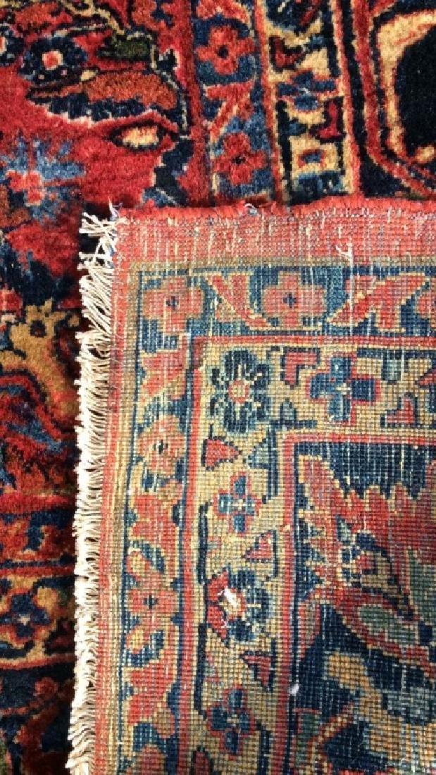 Vintage Handmade Floral Motif Detailed Rug - 4