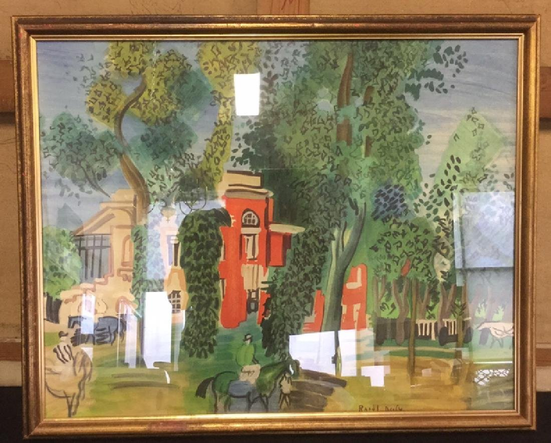 Paddock At Deville Print By Raoul Dufy