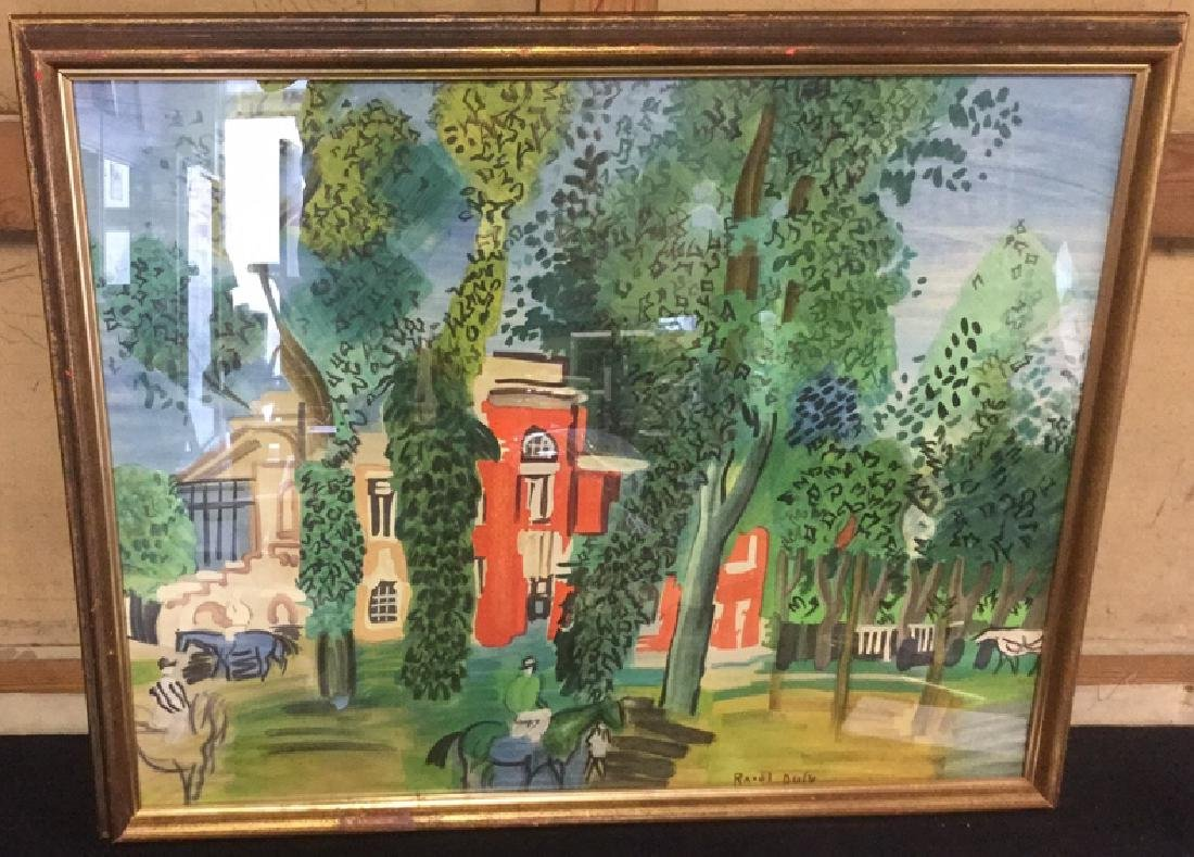 Paddock At Deville Print By Raoul Dufy - 2