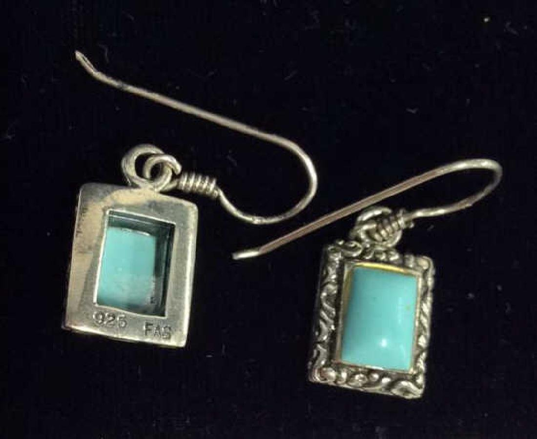 Set 2 Sterling W Turquoise Necklace&Earrings - 5
