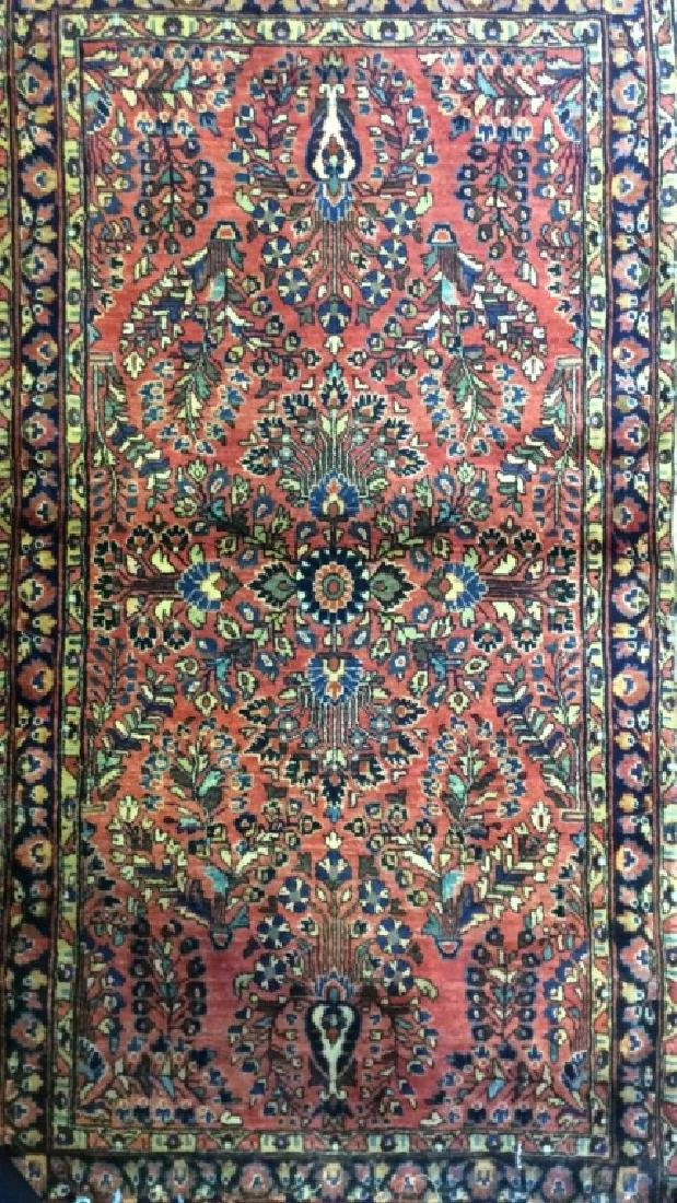 Antique Handmade Wool Rug Carpet - 2