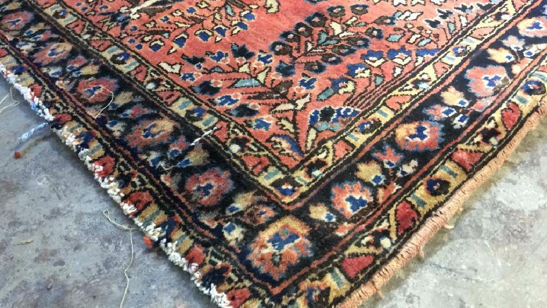 Antique Handmade Wool Rug Carpet - 5