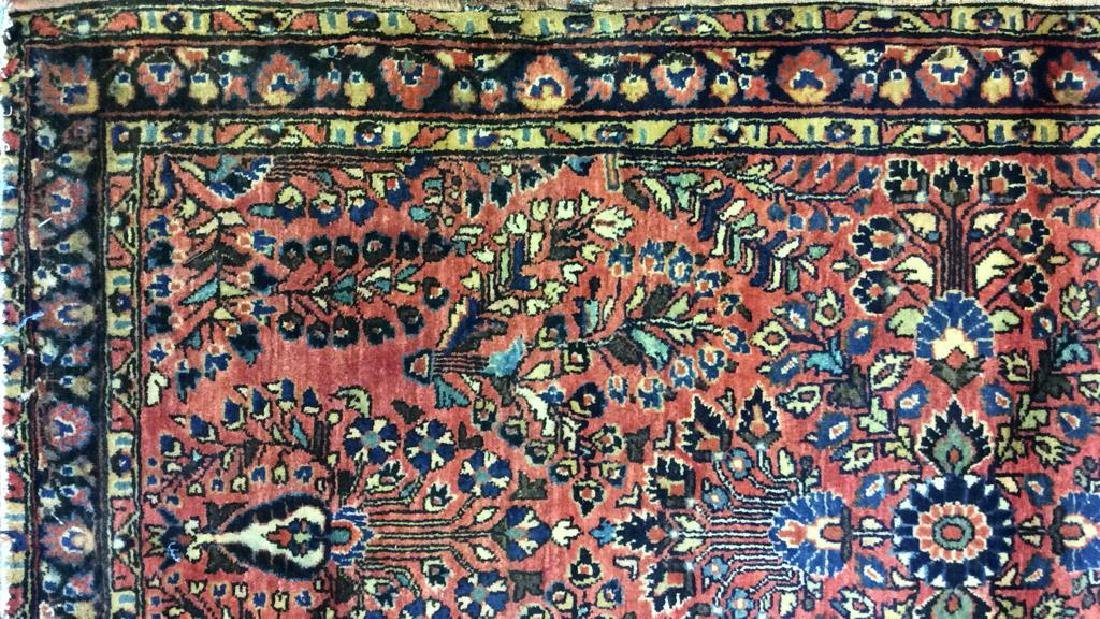 Antique Handmade Wool Rug Carpet - 6