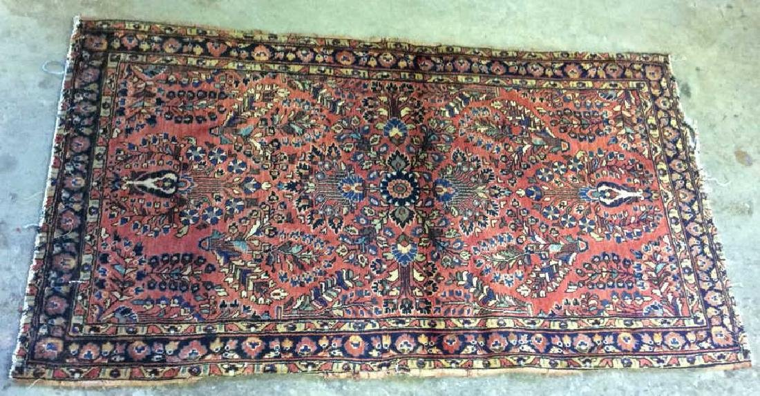 Antique Handmade Wool Rug Carpet - 9