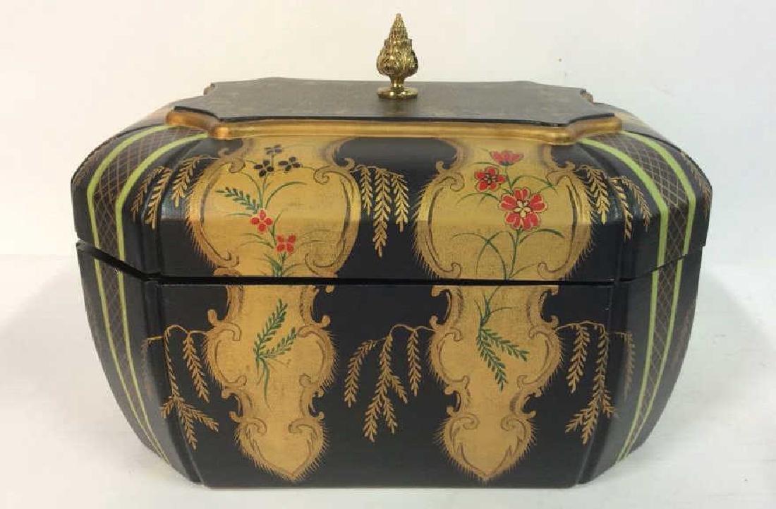 MAITLAND-SMITH Painted Keepsake Box W Lid