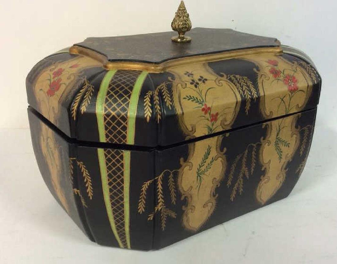 MAITLAND-SMITH Painted Keepsake Box W Lid - 2