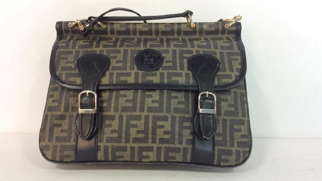 Lot 2 FENDI Handbags Purses - 2