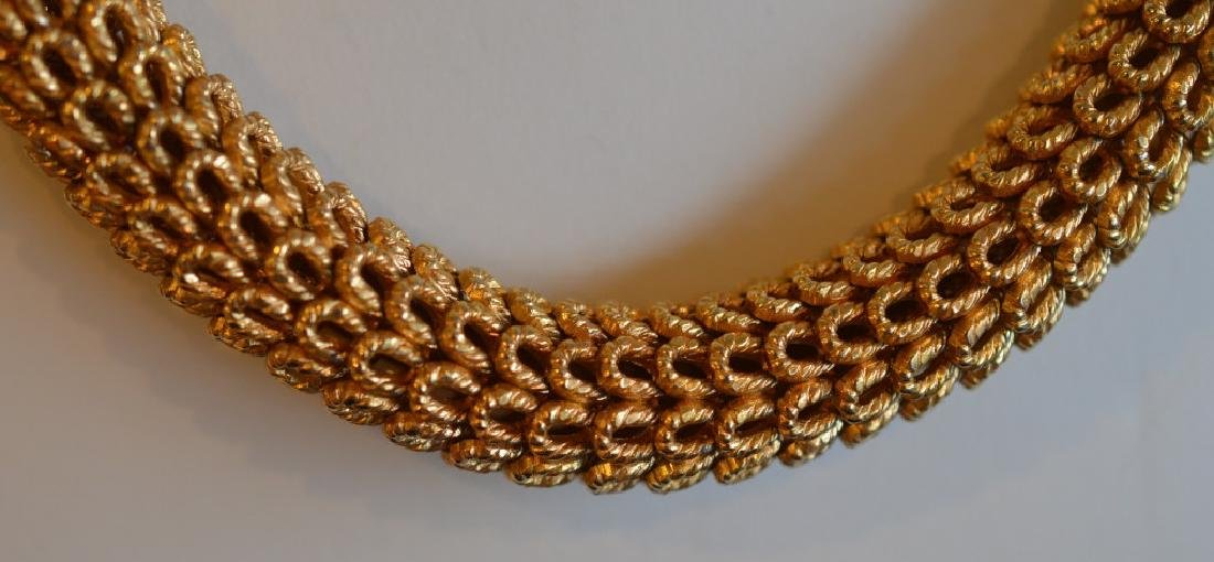 Vintage Gold Plated Dior Collar Necklace