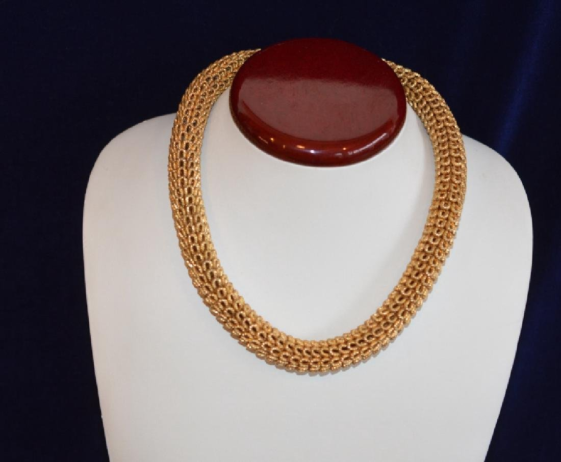 Vintage Gold Plated Dior Collar Necklace - 2