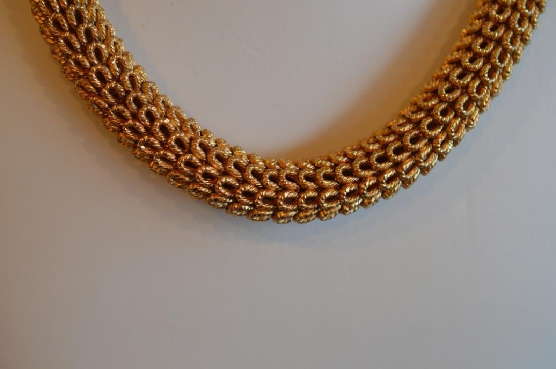 Vintage Gold Plated Dior Collar Necklace - 3