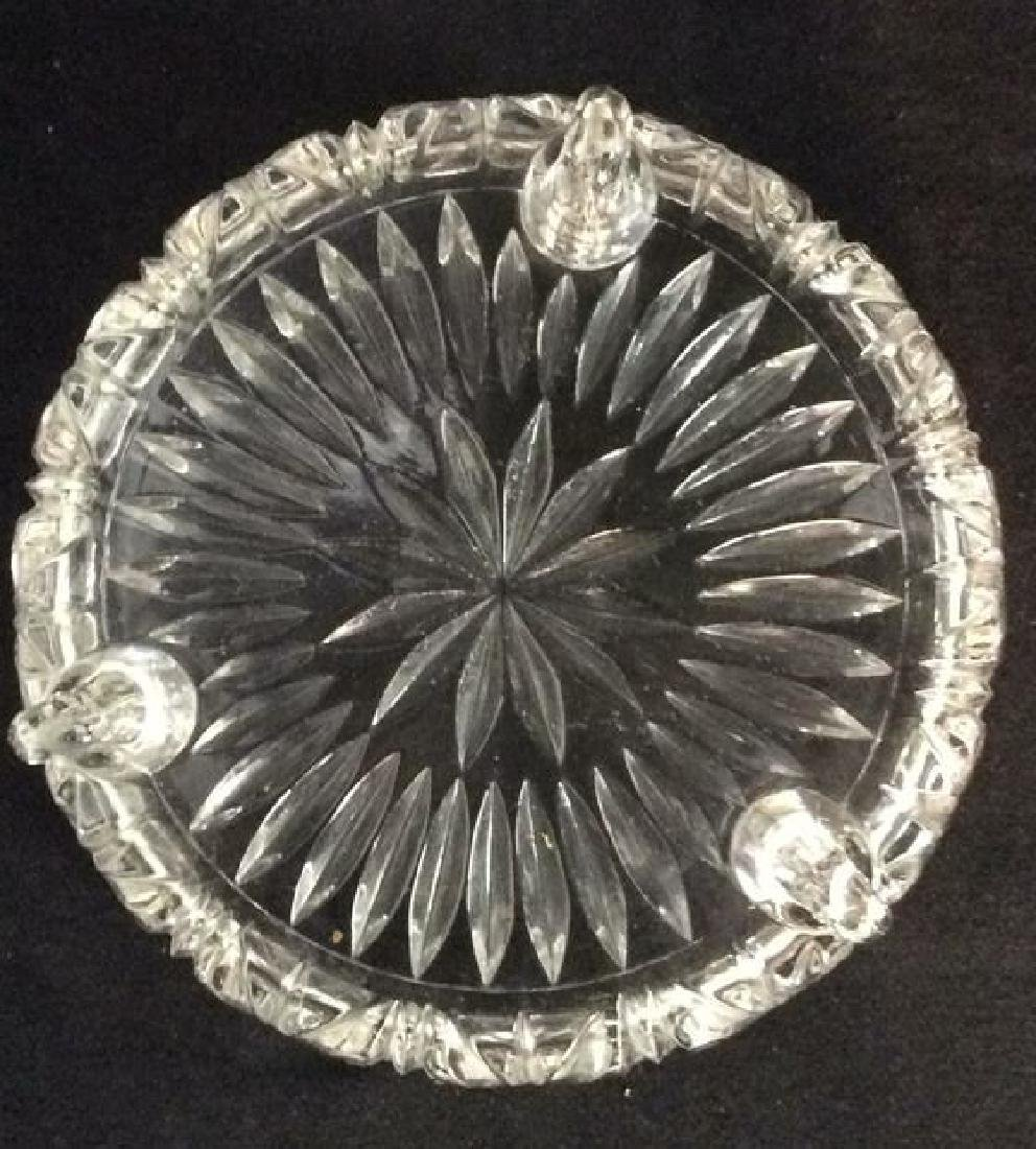 Footed Ornately Cut Crystal Centerpiece Bowl - 8