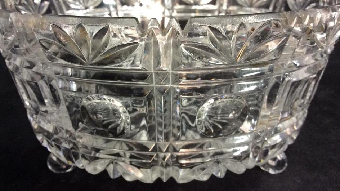 Footed Ornately Cut Crystal Centerpiece Bowl - 9