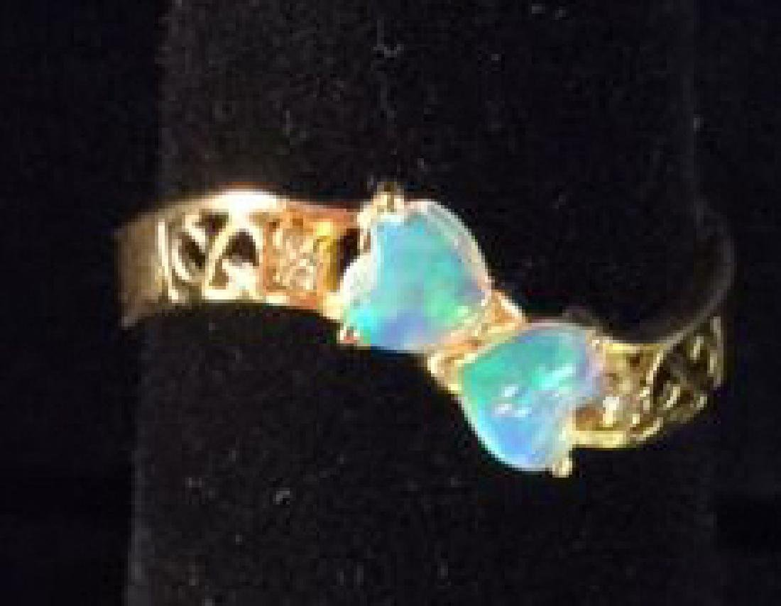 18 K Gold Opalescent Ring Jewelry