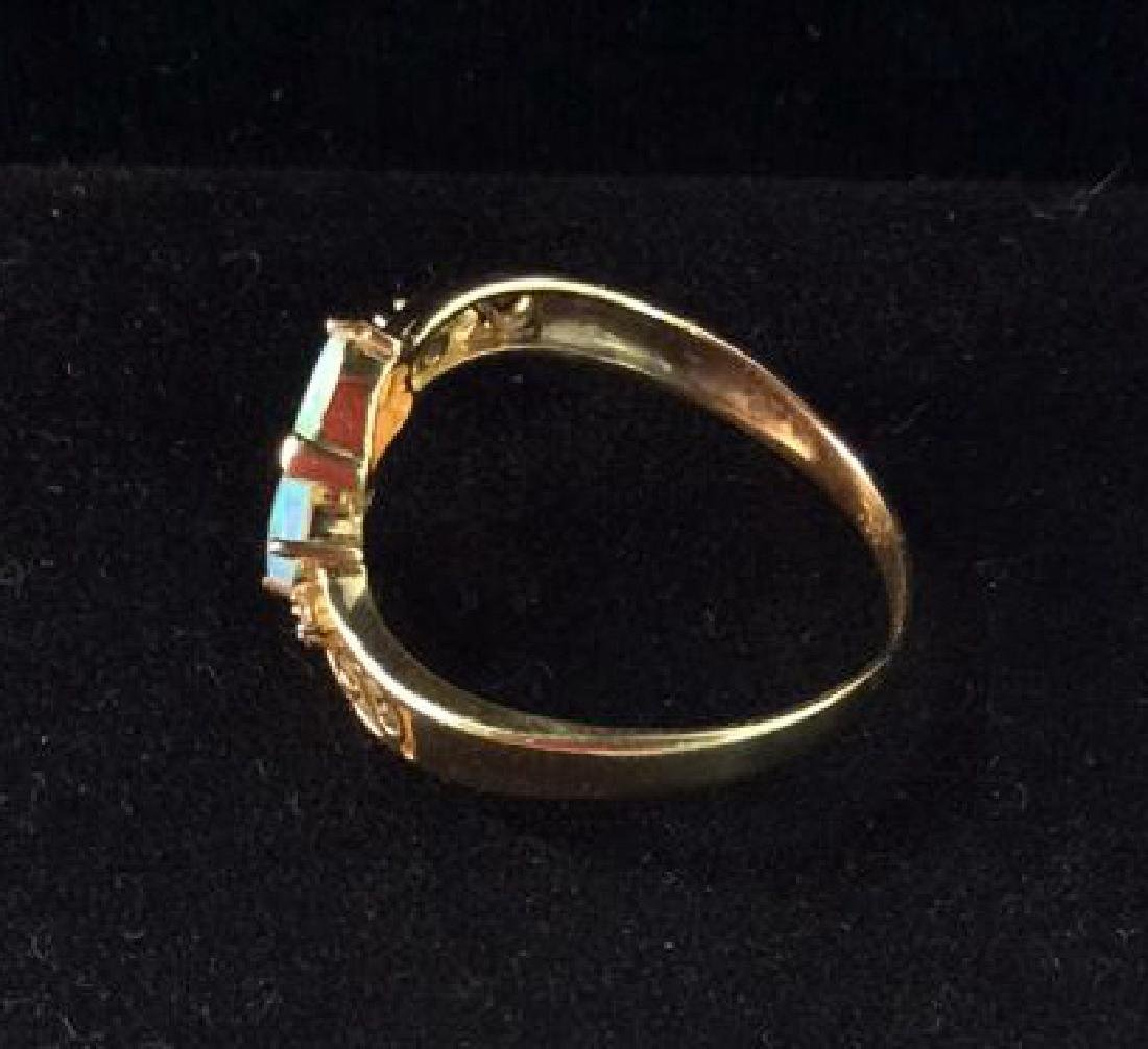 18 K Gold Opalescent Ring Jewelry - 4