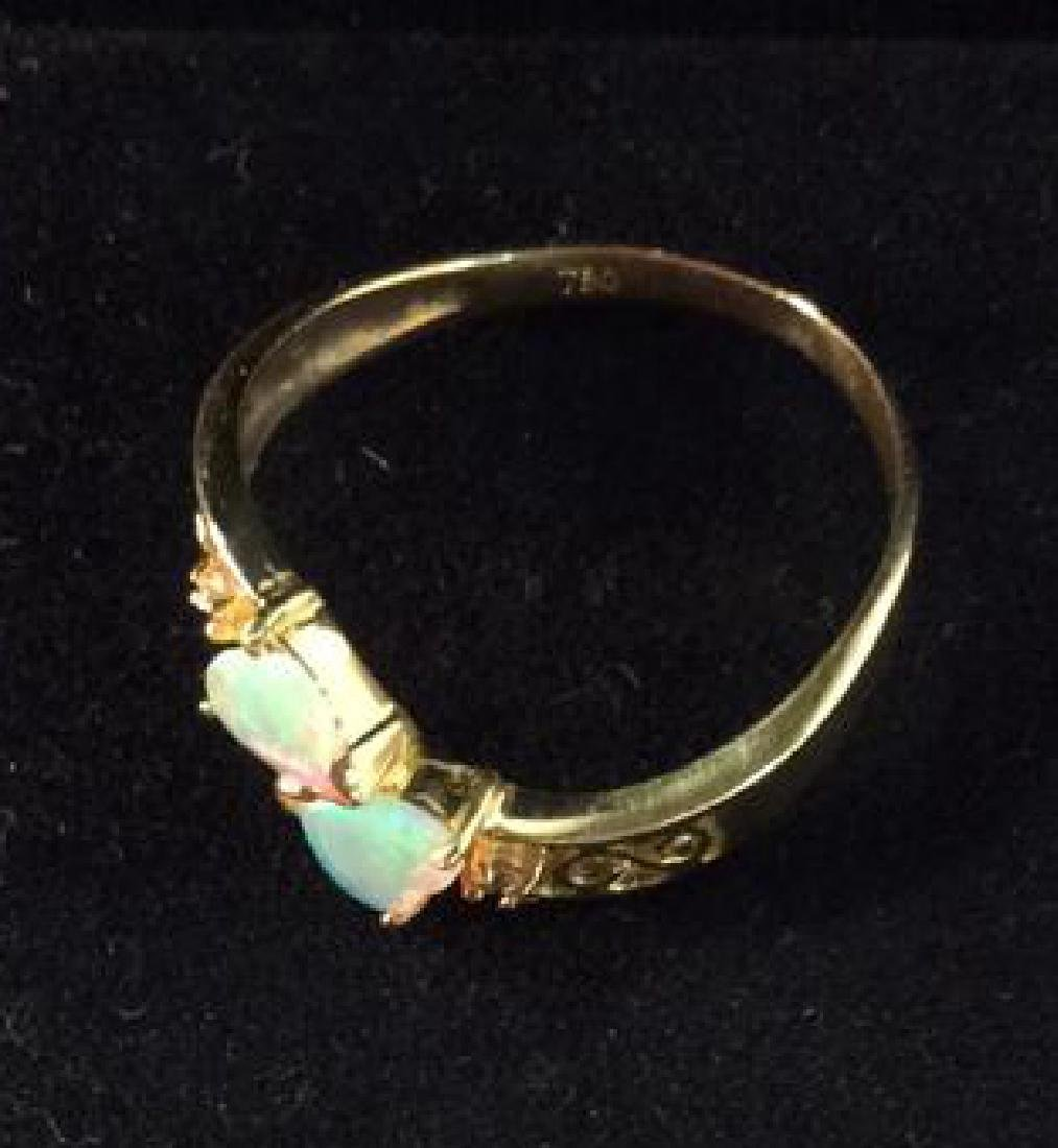 18 K Gold Opalescent Ring Jewelry - 5
