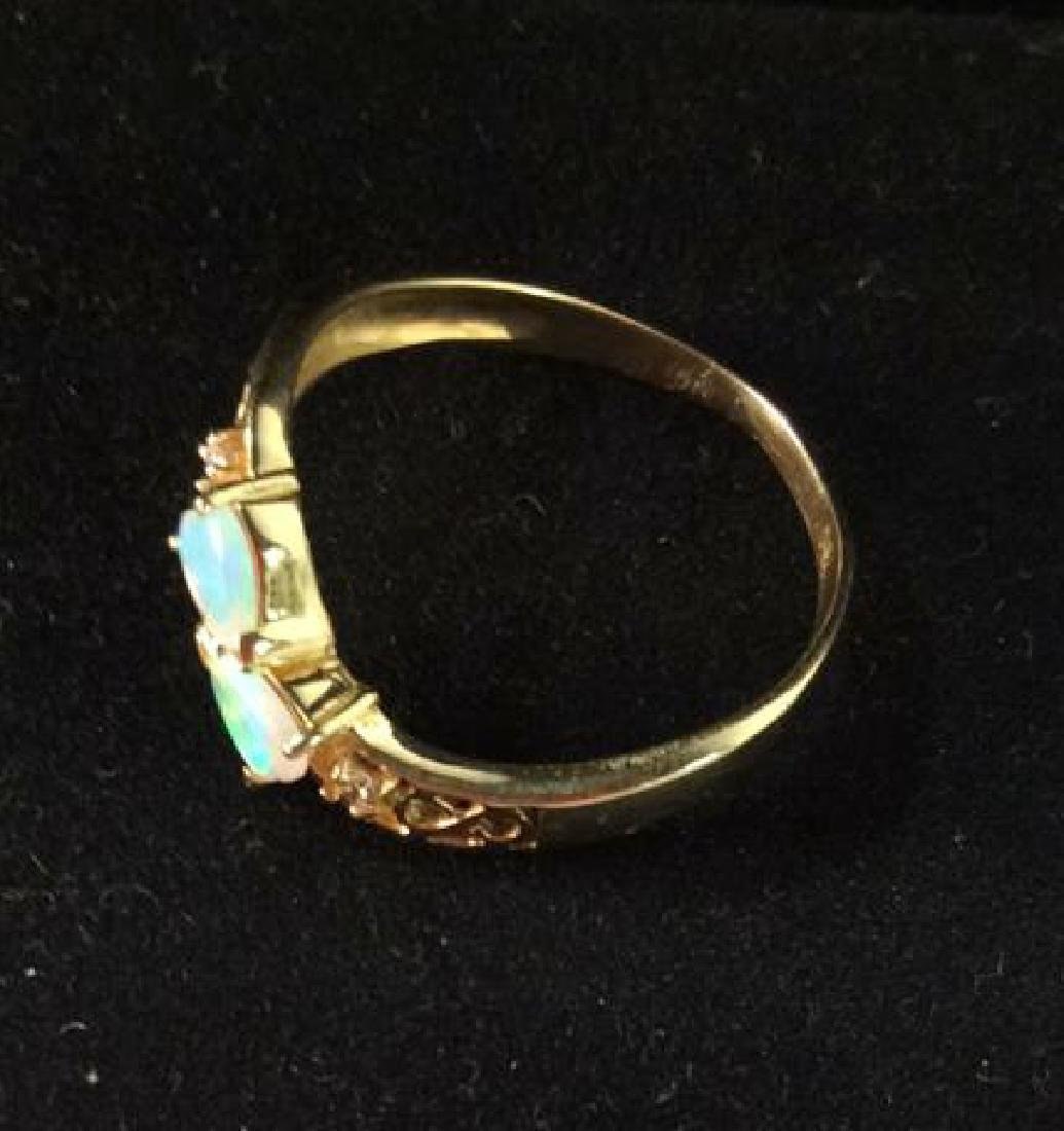 18 K Gold Opalescent Ring Jewelry - 6