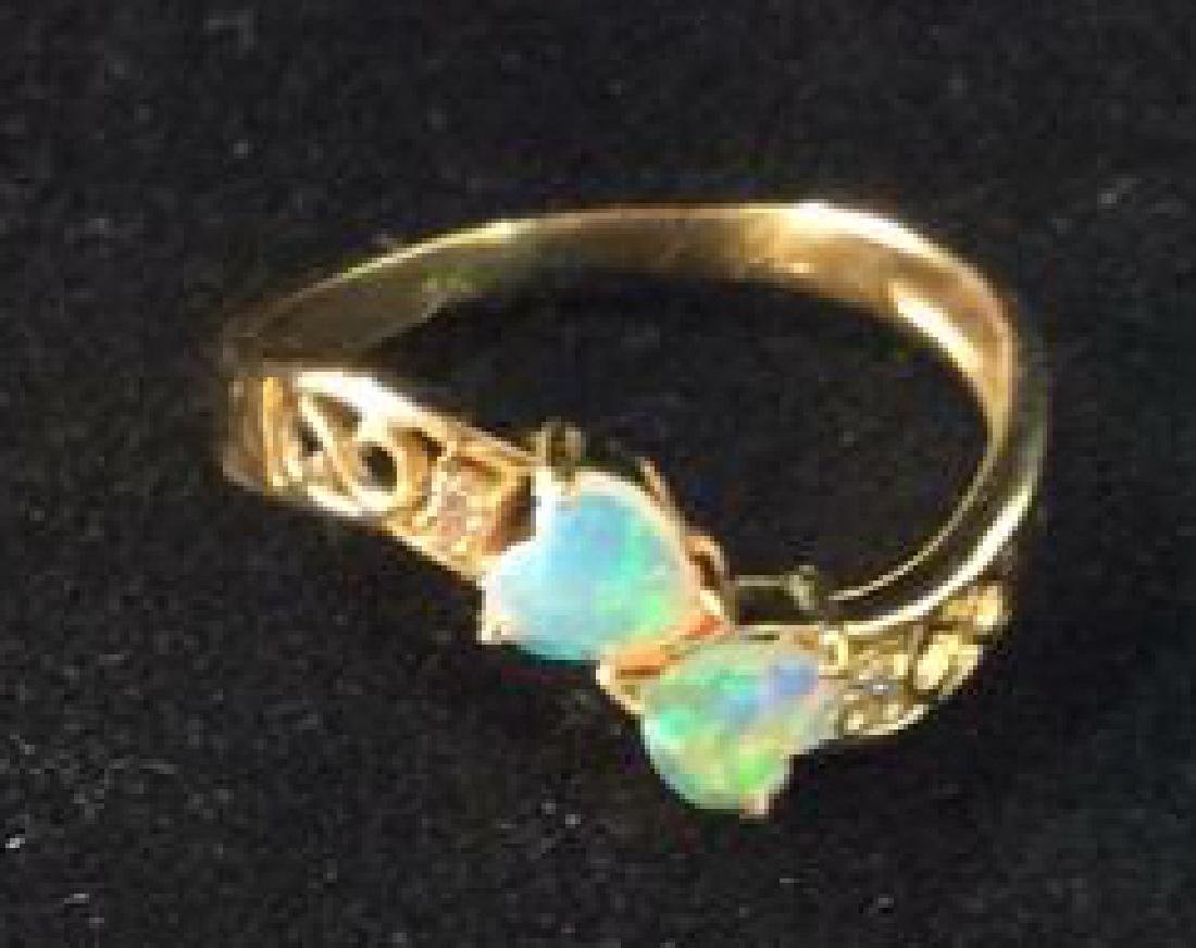 18 K Gold Opalescent Ring Jewelry - 7