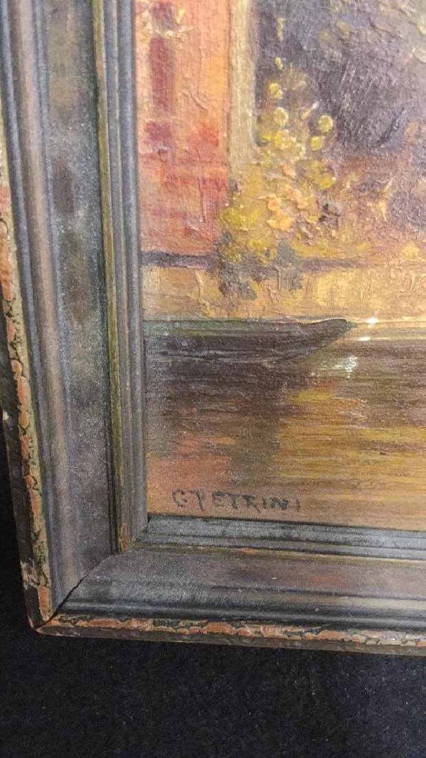 Antique Painting Of Venice By G. Petrini - 2