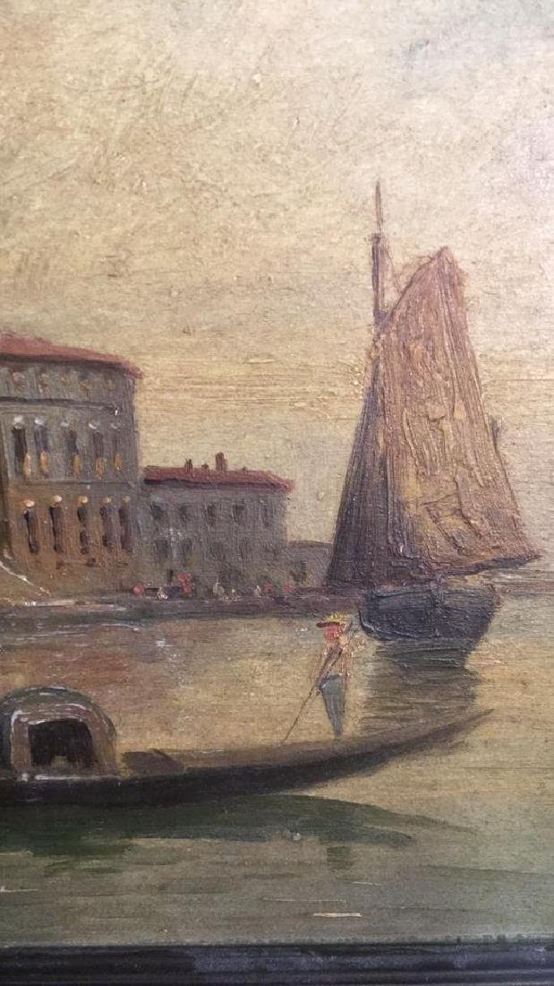 Antique Painting Of Venice By G. Petrini - 3