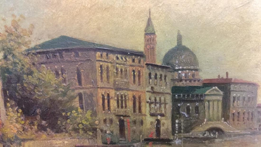 Antique Painting Of Venice By G. Petrini - 4