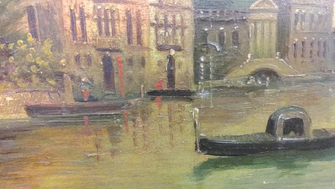 Antique Painting Of Venice By G. Petrini - 5