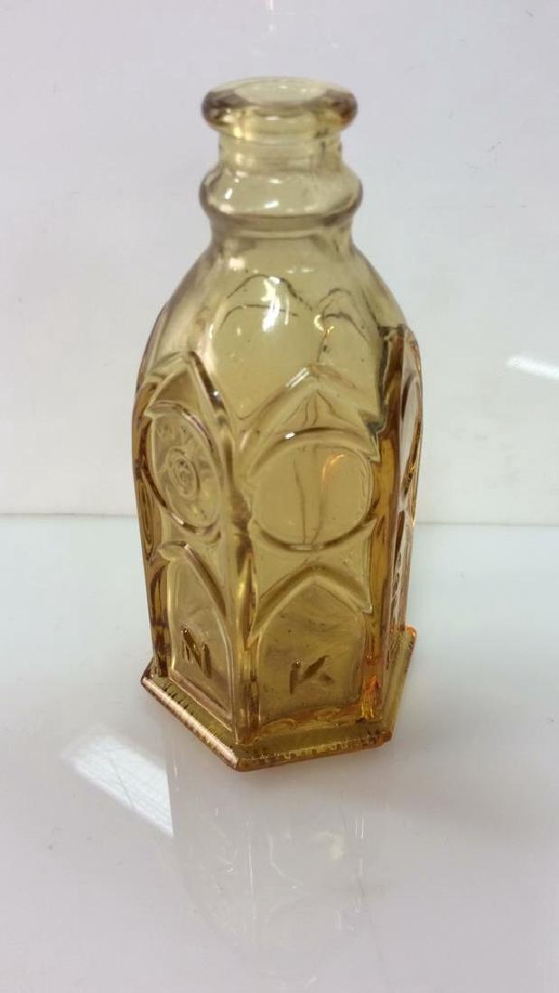 Lot 2 Vintage Glass Crystal  Bottles - 2