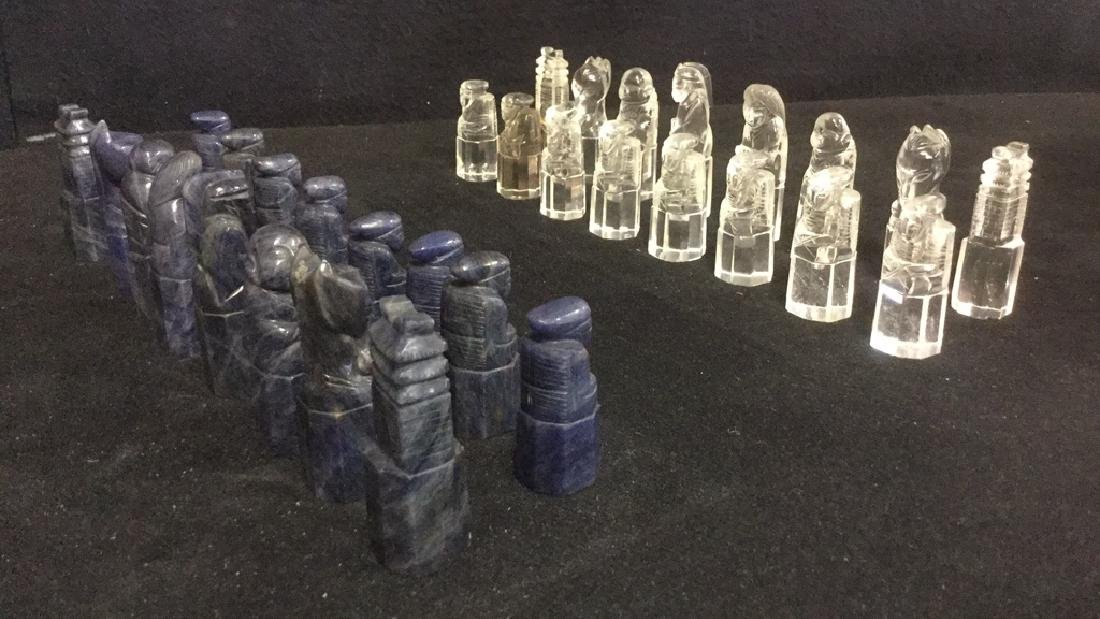 Lot 32 Rock Crystal Chinese Chess Pieces
