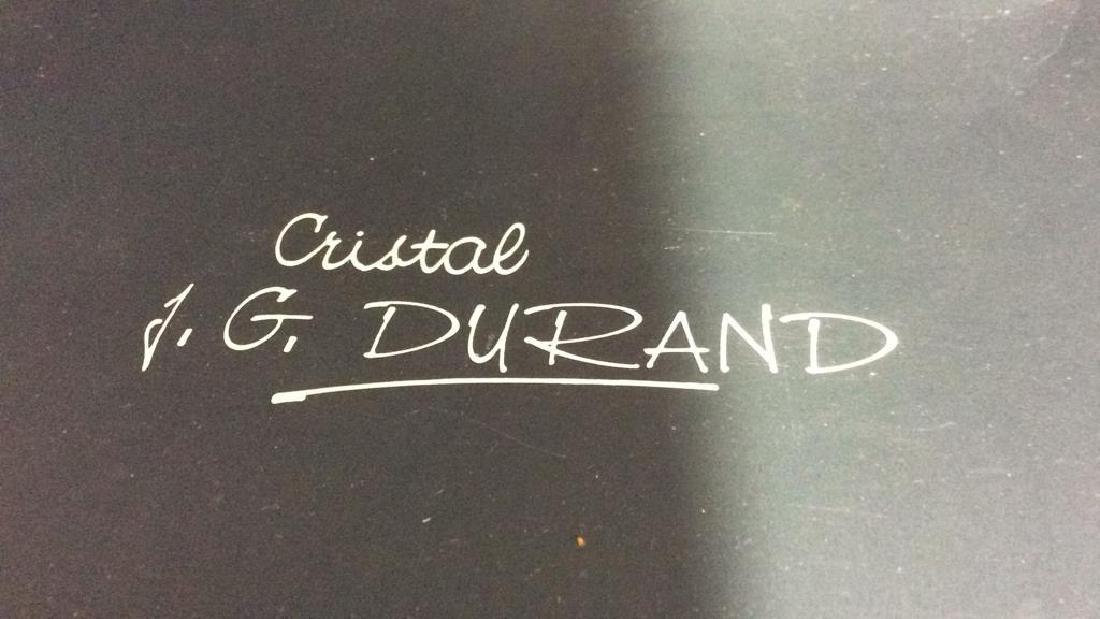 Lot 4 CRISTAL JG DURAND Dessert Plates - 9