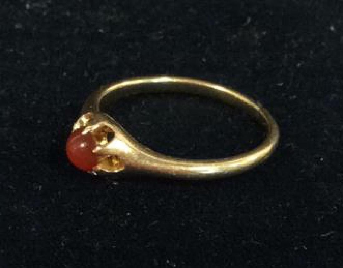 14 K Gold Ring With Natural Stone