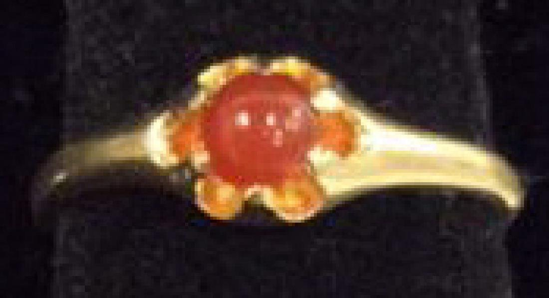 14 K Gold Ring With Natural Stone - 2