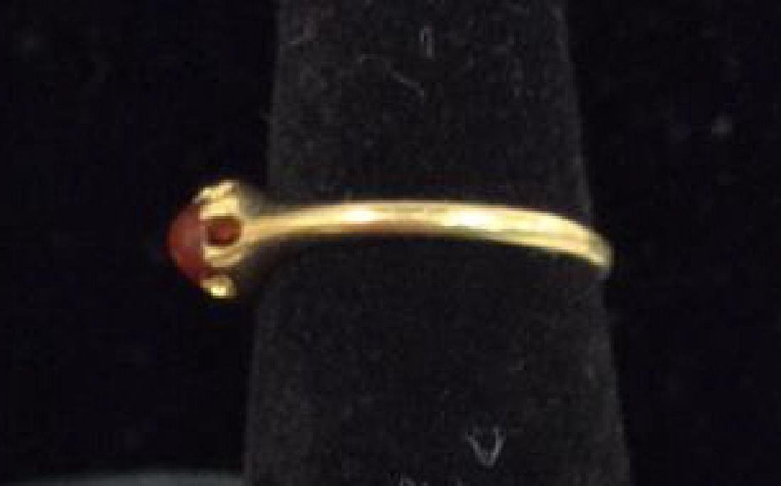 14 K Gold Ring With Natural Stone - 3
