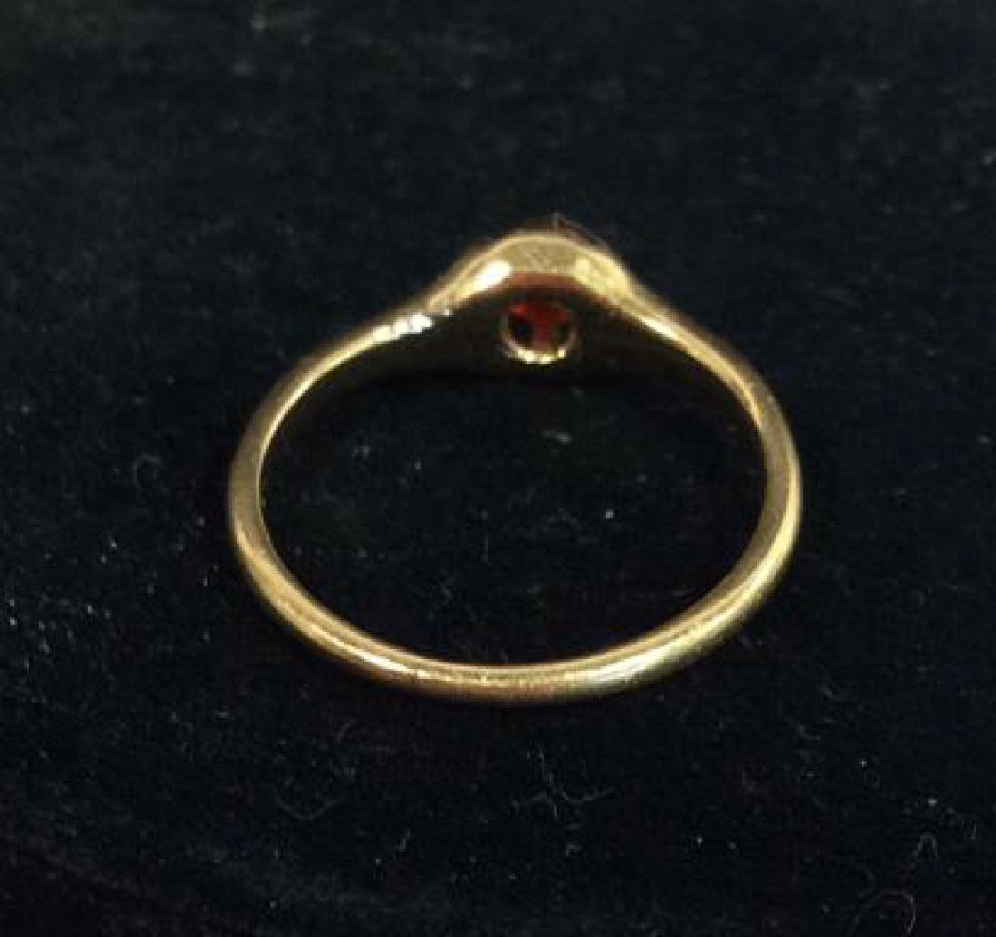 14 K Gold Ring With Natural Stone - 5
