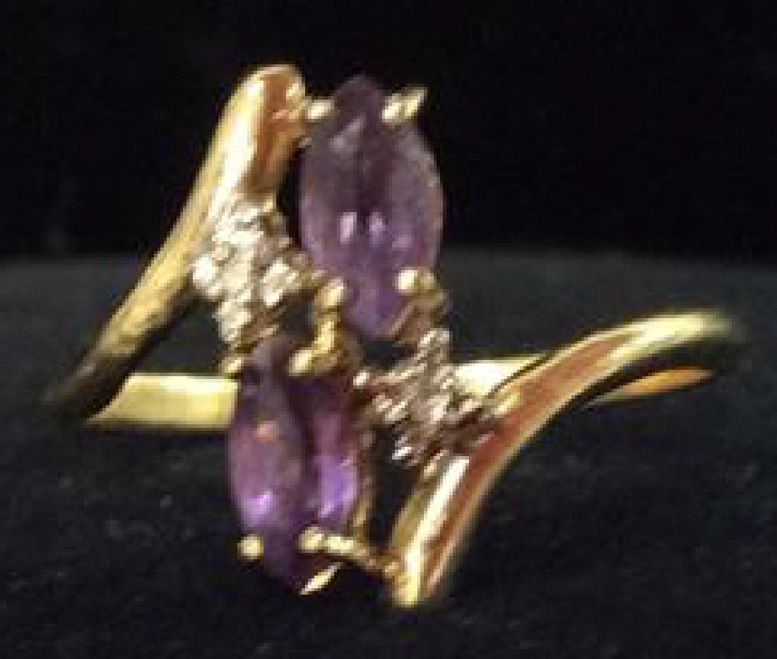 10 K Gold Amethyst Ring Jewelry