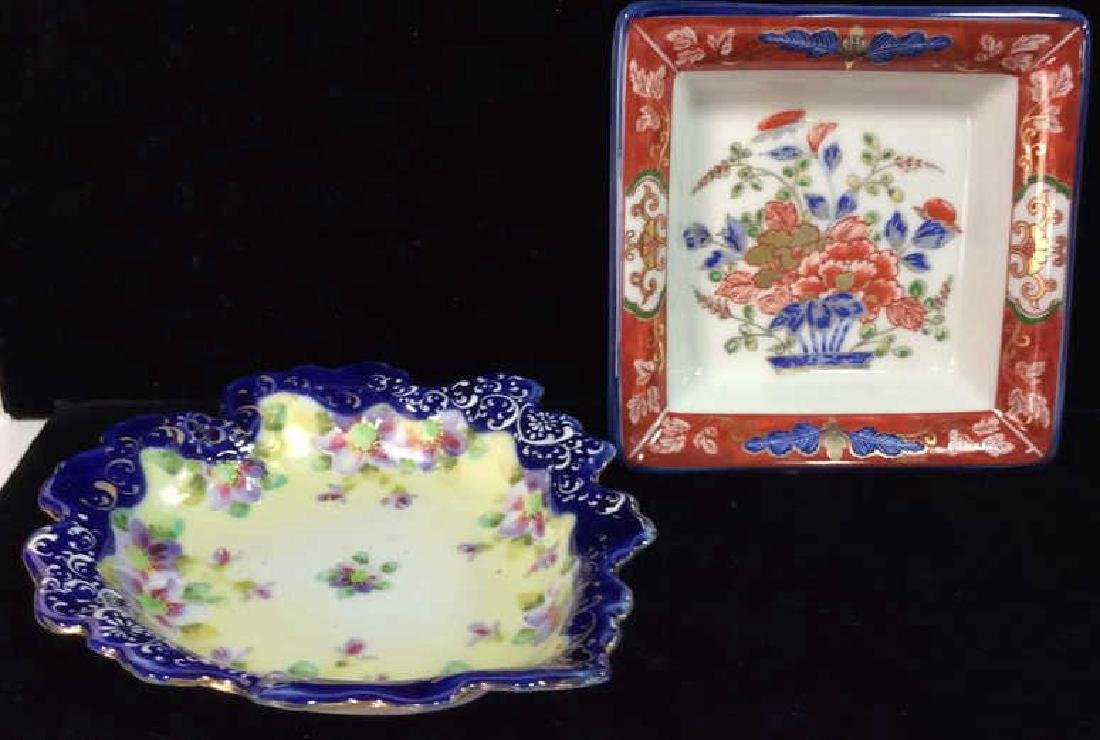 Porcelain Floral Trinket Dishes
