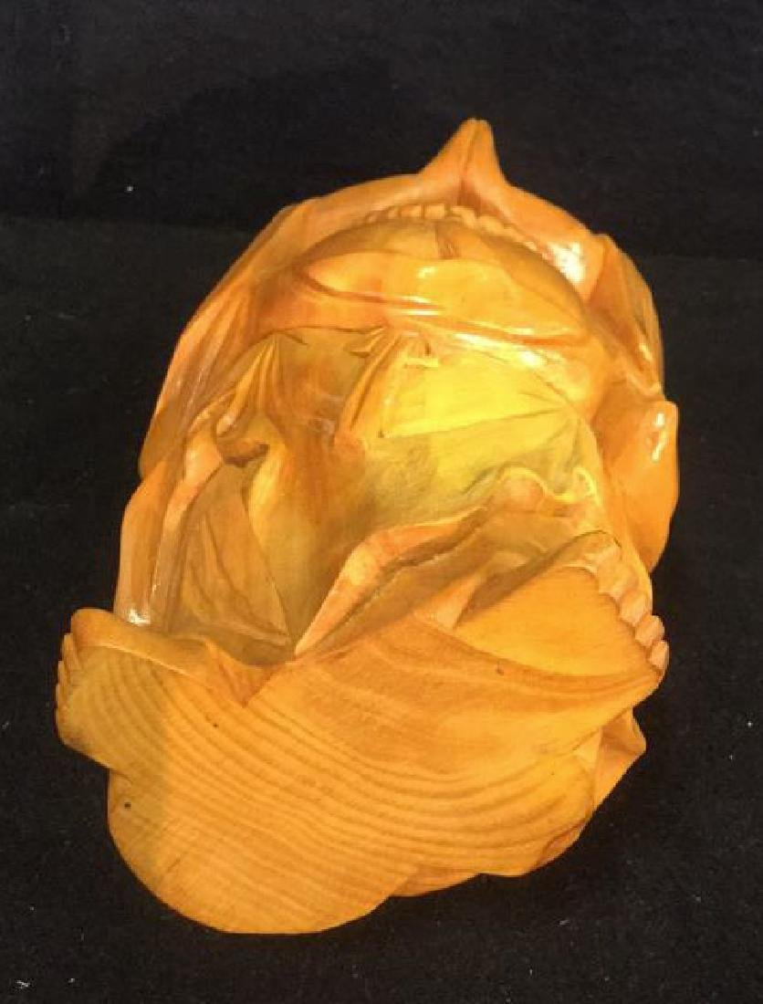 Wooden Laughing Buddha Statue - 5