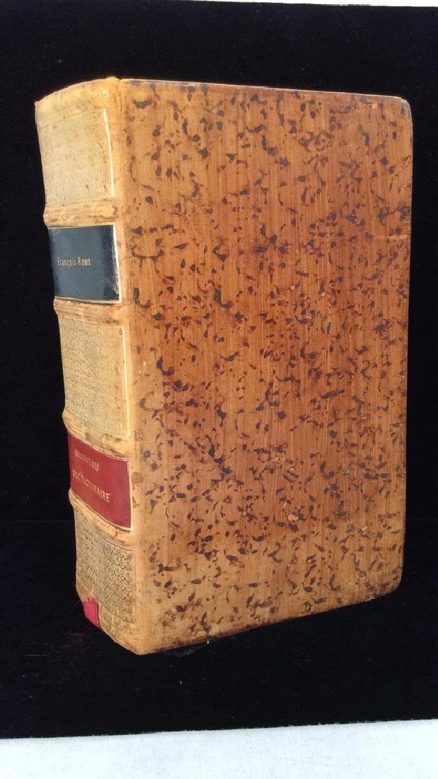 Vintage Possibly Antique Leather French Dictionary