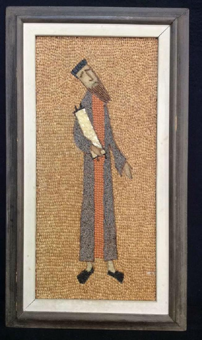 Grain Mixed Media Artwork Of Male Figure