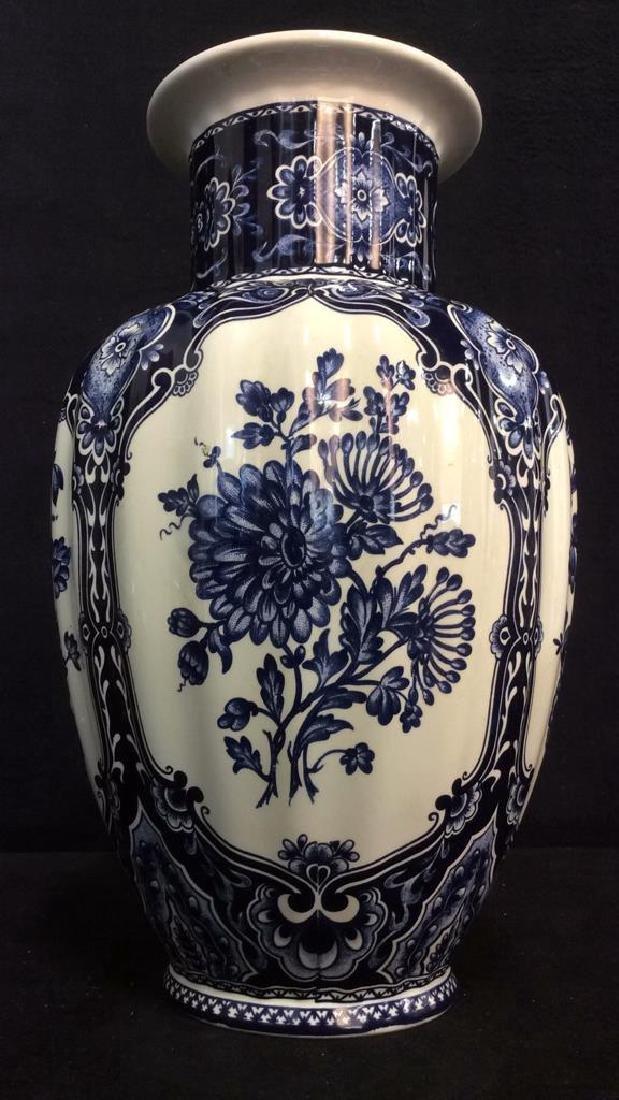 Ceramic Porcelain Floral Detailed Vase
