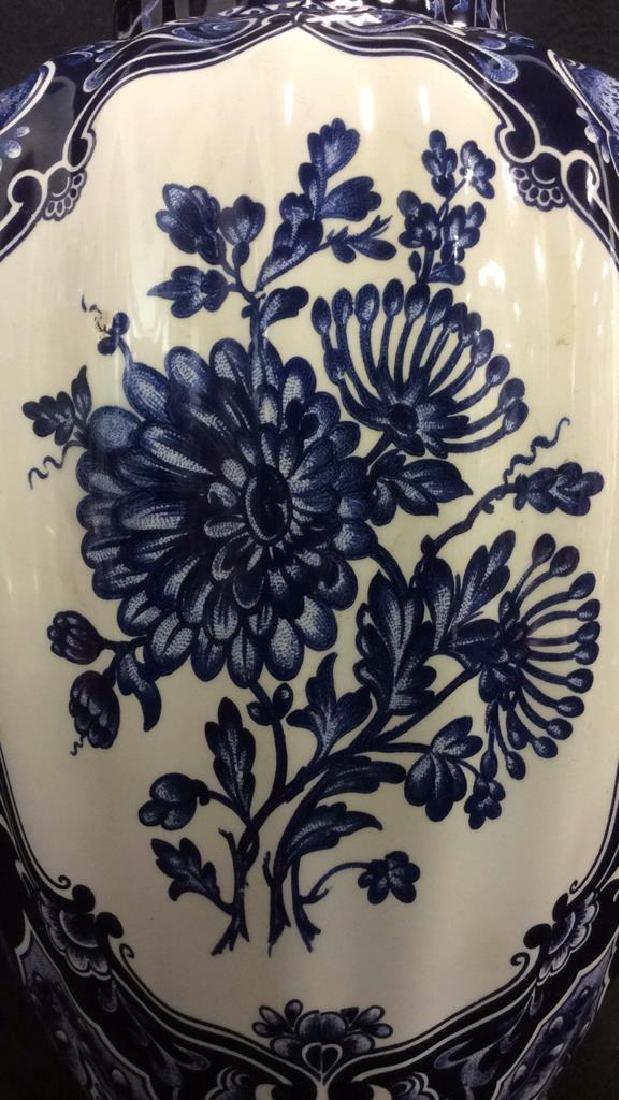 Ceramic Porcelain Floral Detailed Vase - 2