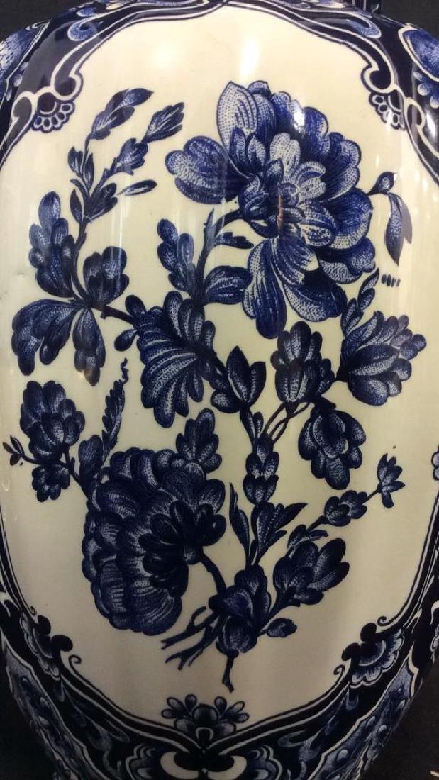 Ceramic Porcelain Floral Detailed Vase - 3
