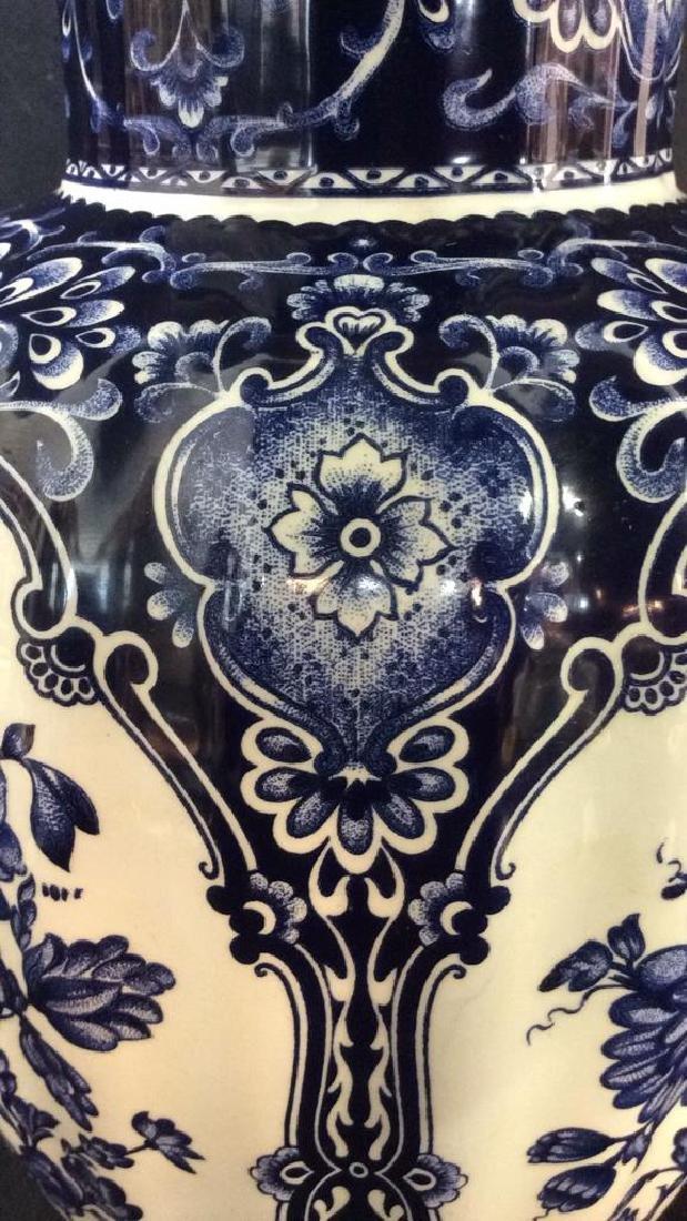 Ceramic Porcelain Floral Detailed Vase - 4