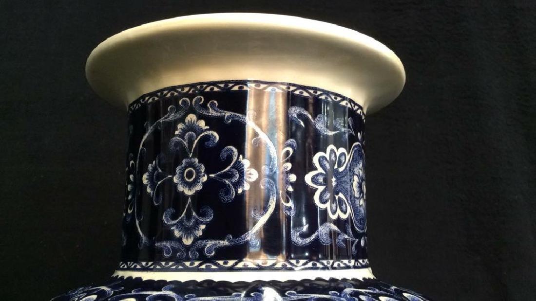 Ceramic Porcelain Floral Detailed Vase - 5