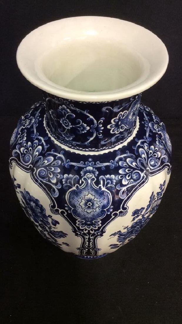 Ceramic Porcelain Floral Detailed Vase - 7