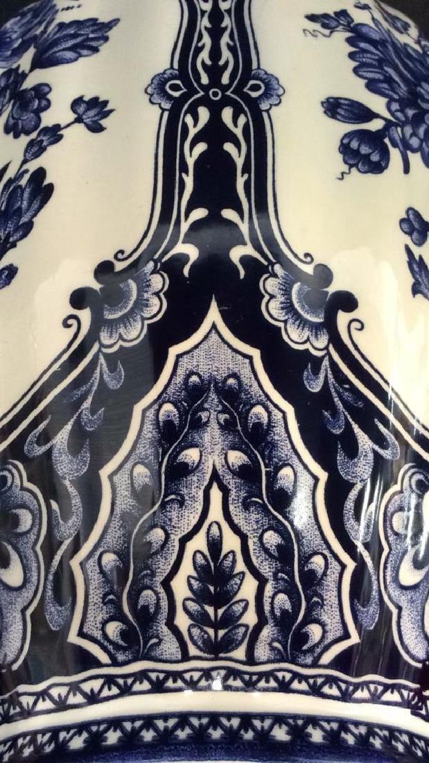 Ceramic Porcelain Floral Detailed Vase - 9